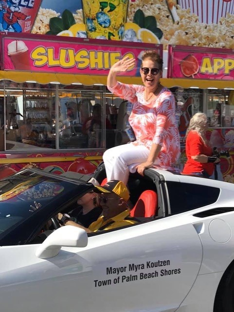 Keith Davis and his wife Jennifer had the privilege of driving the Mayor of Palm Beach Shores, Mayor Myra Koutzen, in the South Florida Fair Mayors Parade.